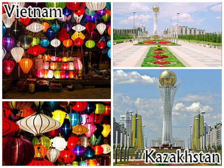 Dating destinations in Vietnam and Kazakhstan