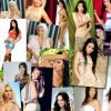 Hot foreign girls collage