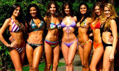 Sizzling hot Colombian bikini babes