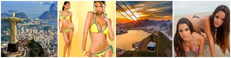 tourist spots and the women of Brazil