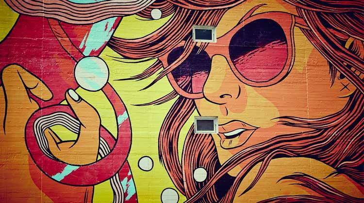 beautiful street wall art