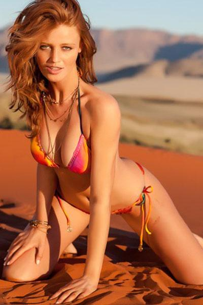 Cintia Dicker in a hot desert photoshoot