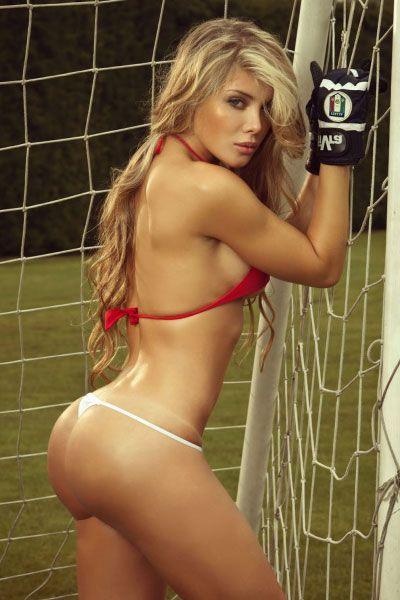 great booty Sofia Jaramillo in a soccer field
