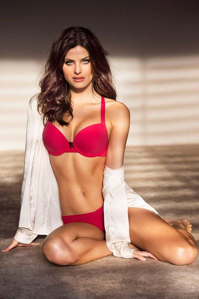 Isabeli Fontana in red two piece bikini