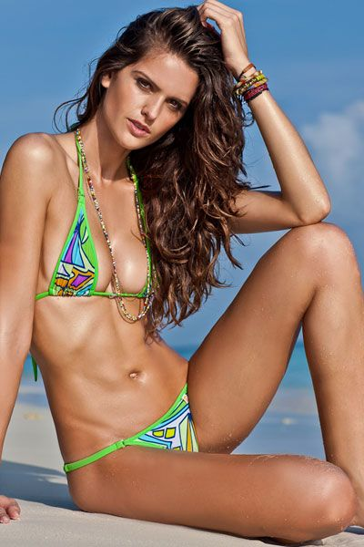 Izabel Goulart hot on the beach