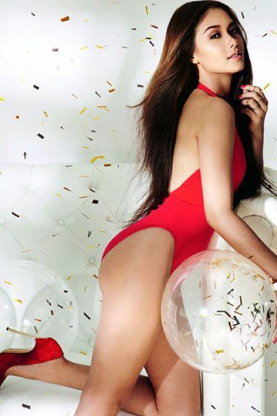 magnificent Maja Salvador in red bikini