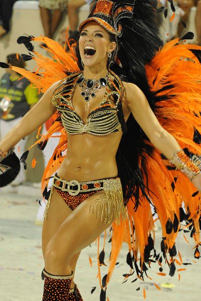 Paola Oliveira in her carnivale costume