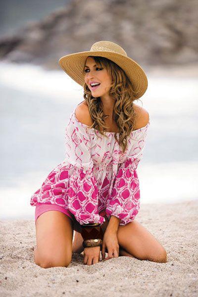tantalizing Adriana Arboleda on the beach