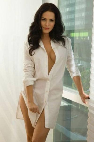 tantalizing Danna Garcia in a white longsleeves
