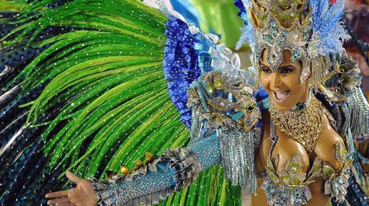 bewitching participant in Rio parade