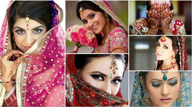 pretty Indian women in their traditional wedding dress