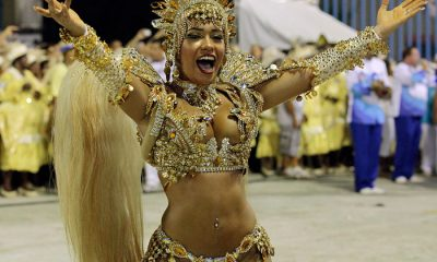 Rio queen in her stunning gold costume