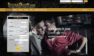 Front page of sugardaddy.com