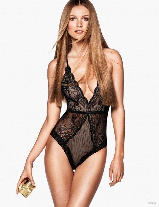 Sasha Pivovarova hot in bikini lingerie