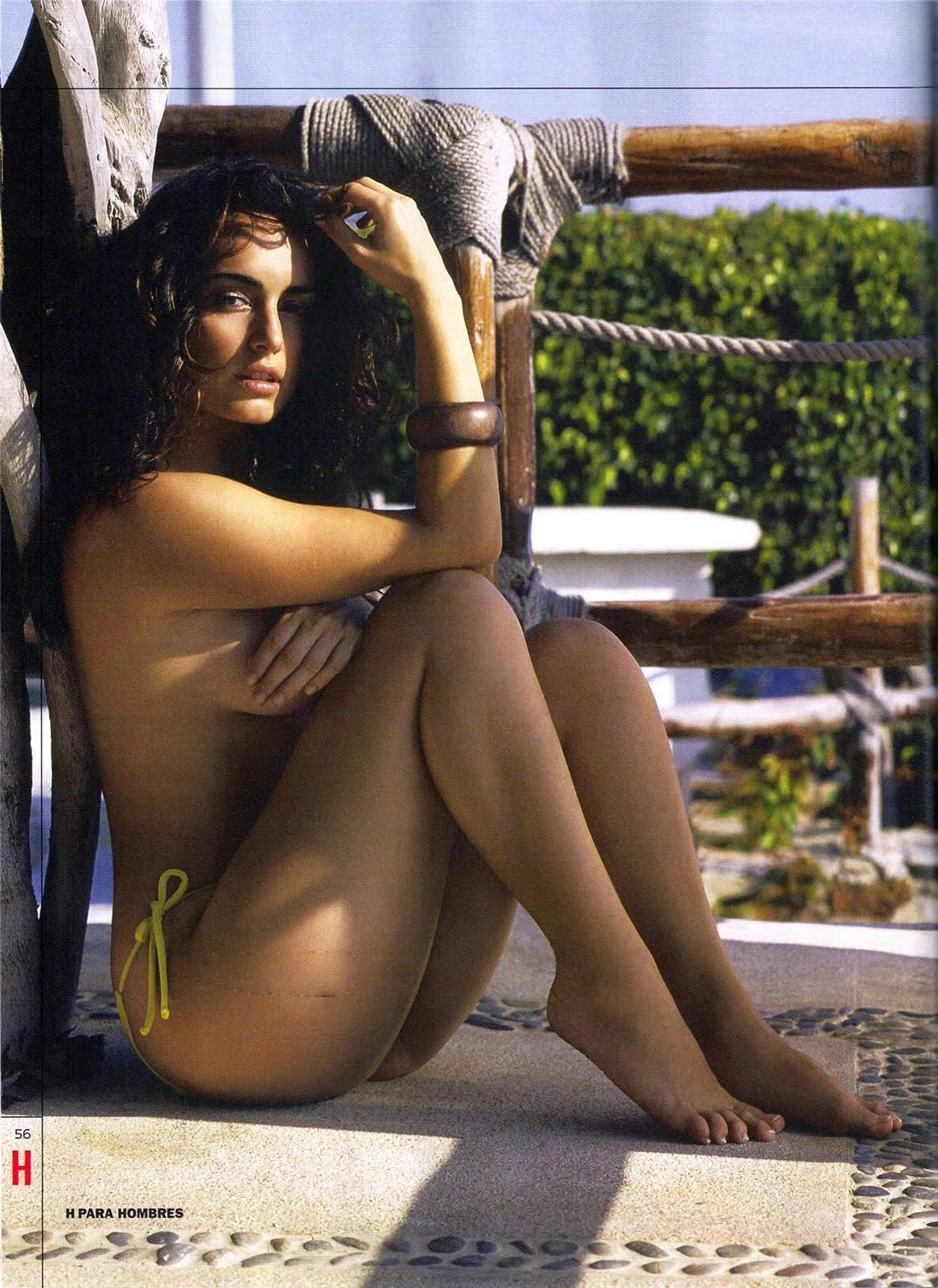 Ana de la Reguera topless bikini