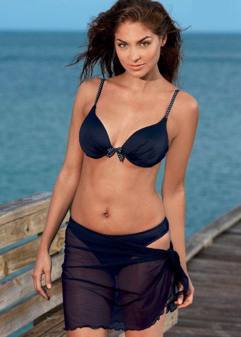 Blanca Soto teasing in a black 2-piece bikini