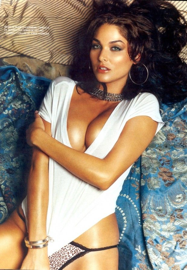 Blanca Soto in wet white shirt