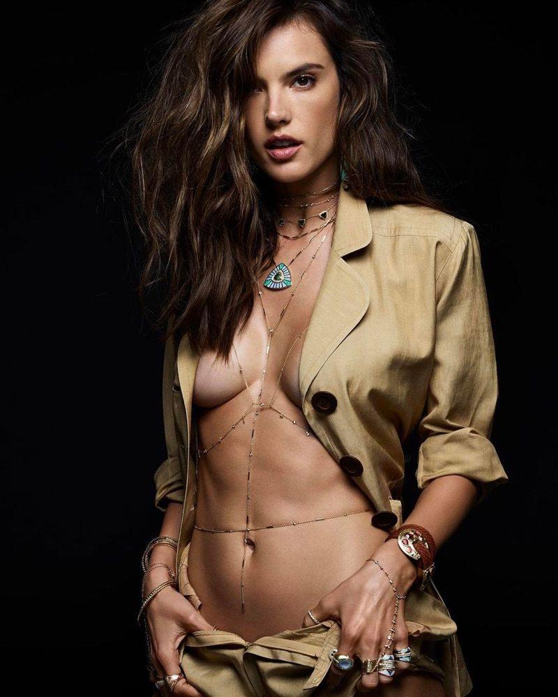 Alessandra Ambrosio jewelry campaign