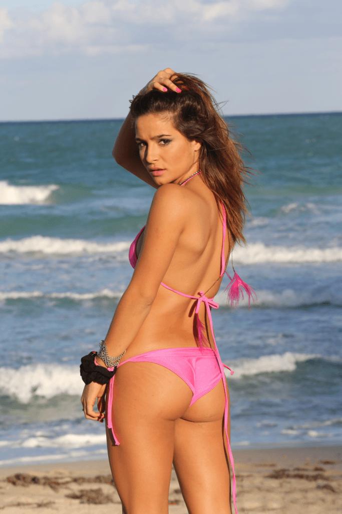 Brenda Asnicar on the beach