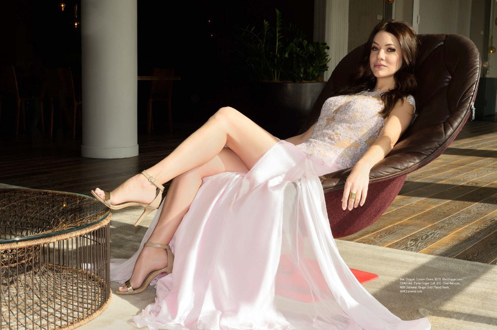 Julie Gonzalo stunning in her gown