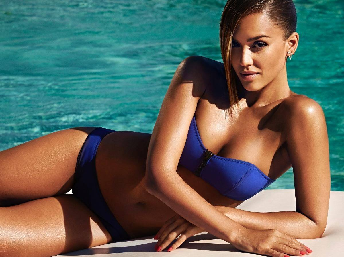Jessica Alba in blue