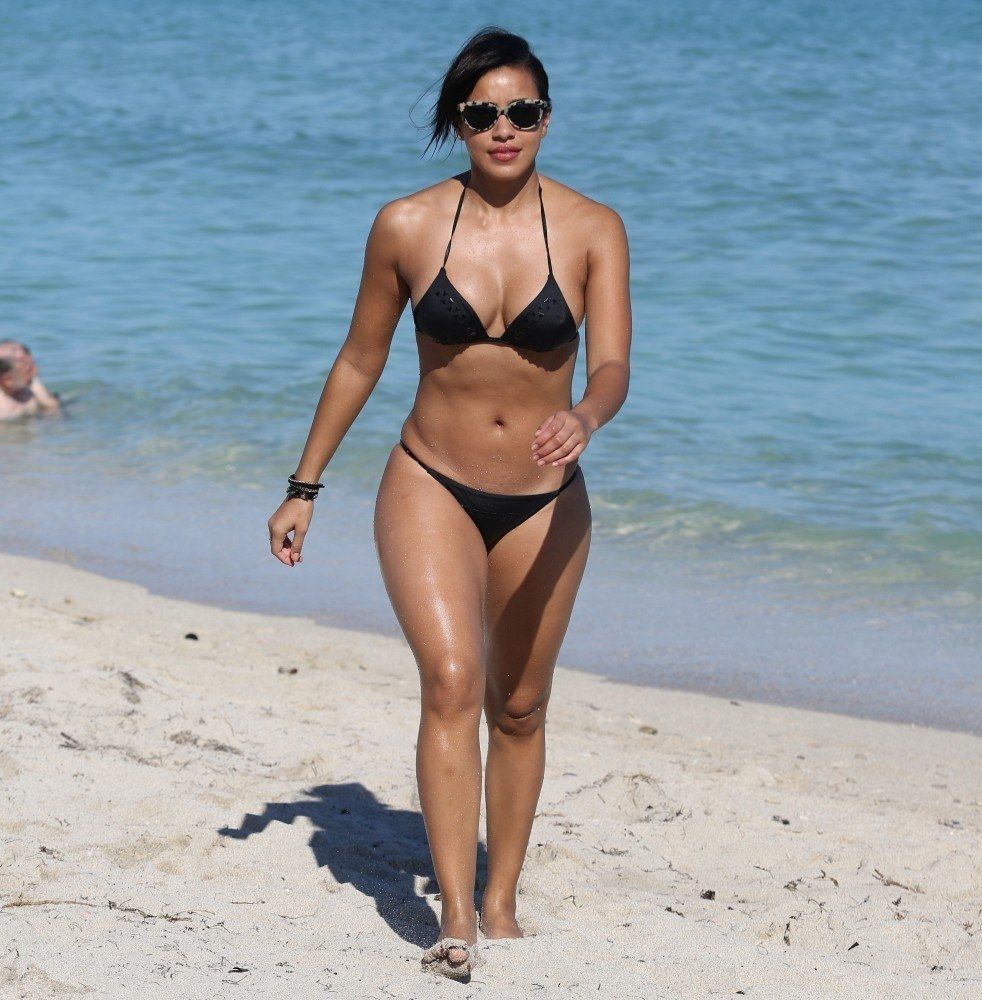 Julissa Bermudez sexy at the beach