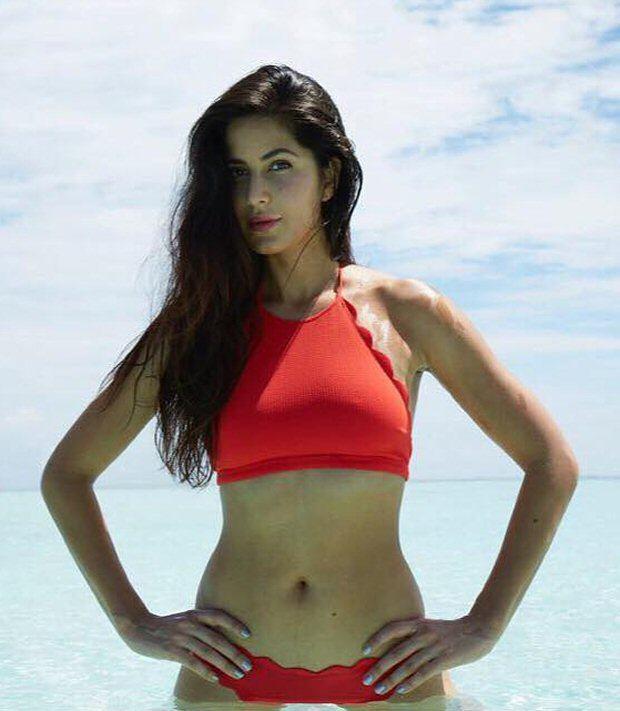 Katrina Kaif sexy red bikini