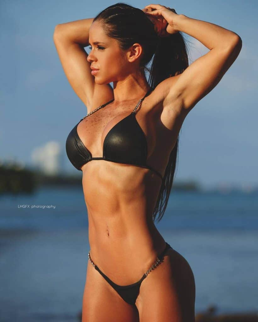 Michelle Lewin hot at the beach