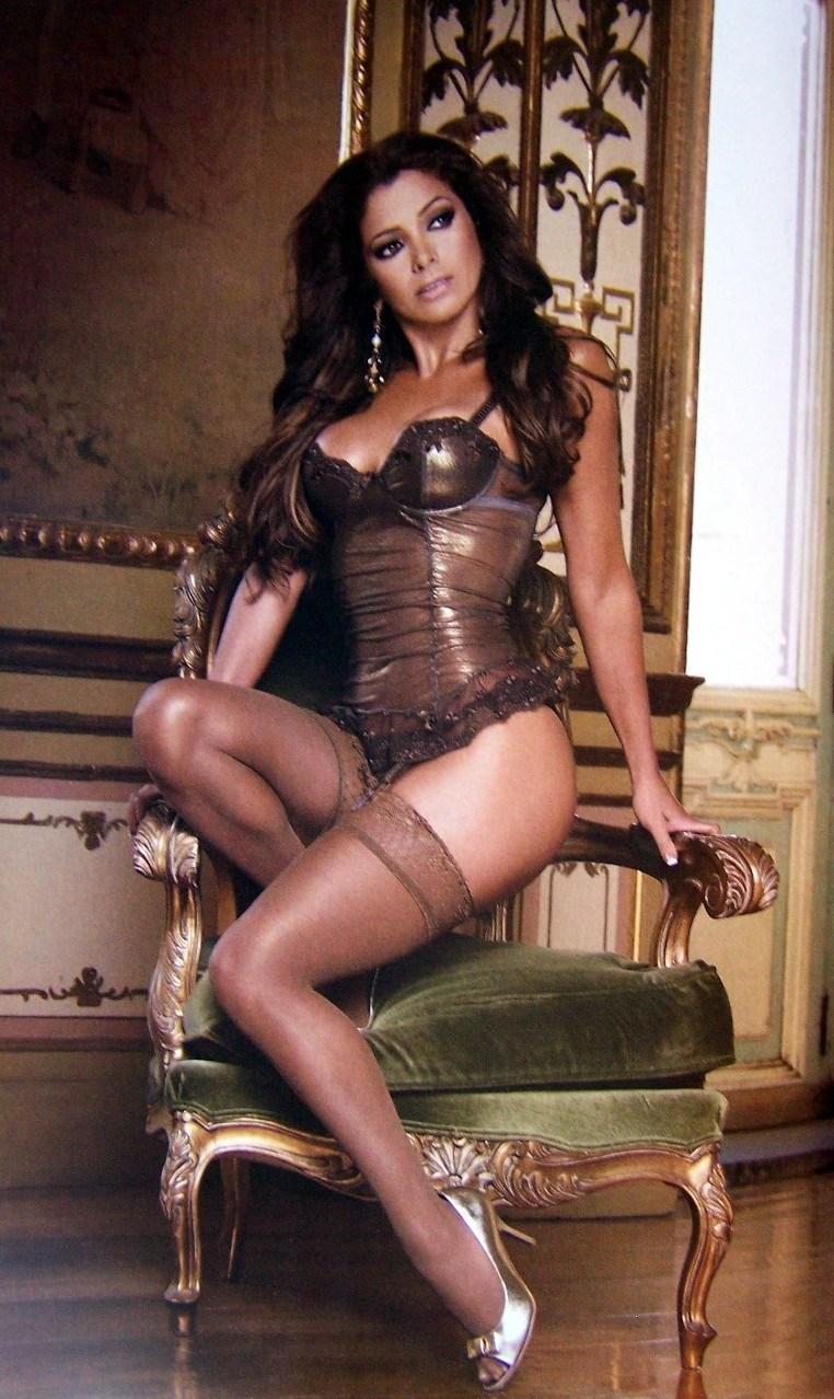 Pilar Montenegro on the chair