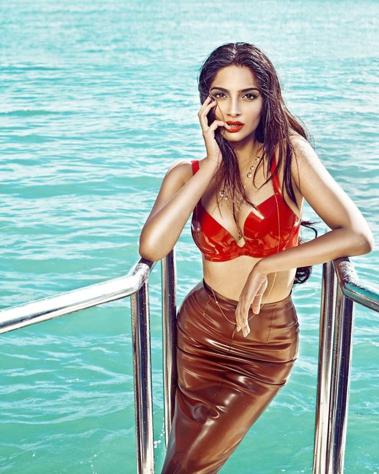Sonam Kapoor in the waters