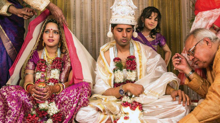 Indian couple arranged marriage