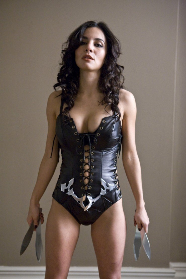 Martha Higareda leather cloth