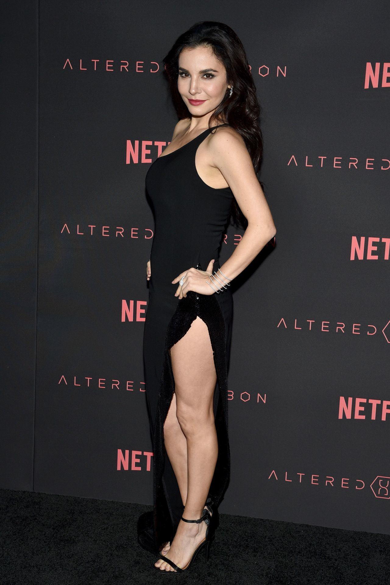 Martha Higareda long dress