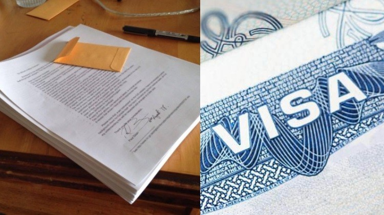 documents and visa for travelling