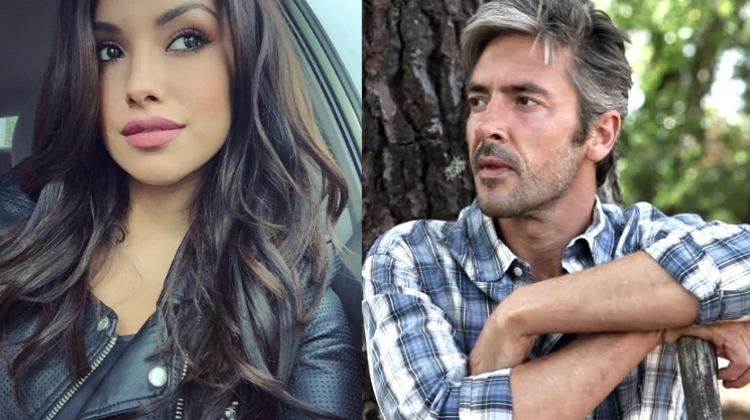 latina and mid age man