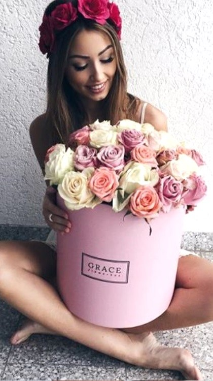 polish girl received flowers
