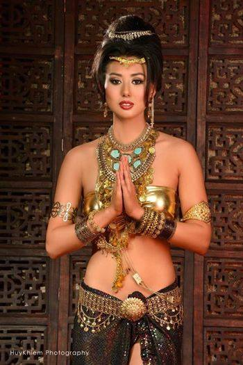 Kelleen Lim Chea in a Khmer clothing