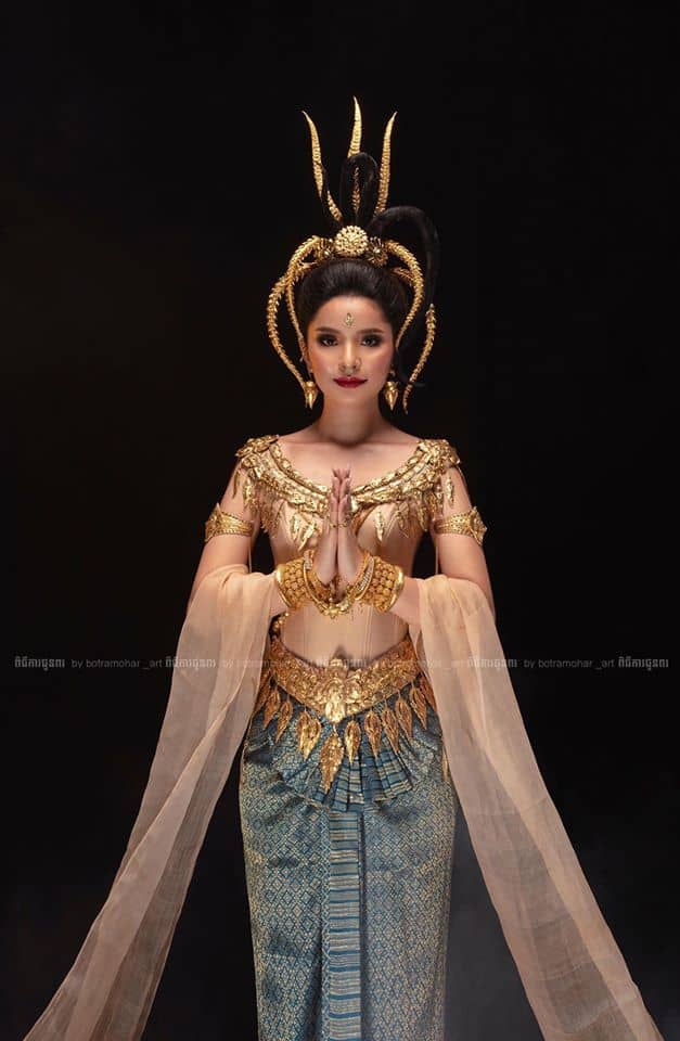 Mak Sensonita in a traditional Khmer clothing
