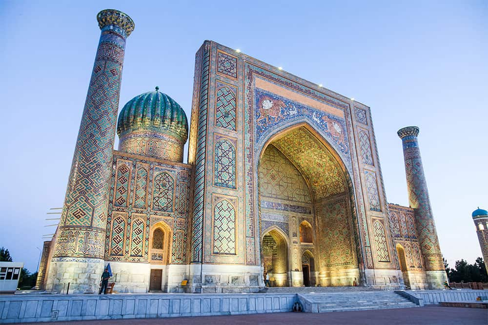 one of the most beautiful mosques in Uzbekistan