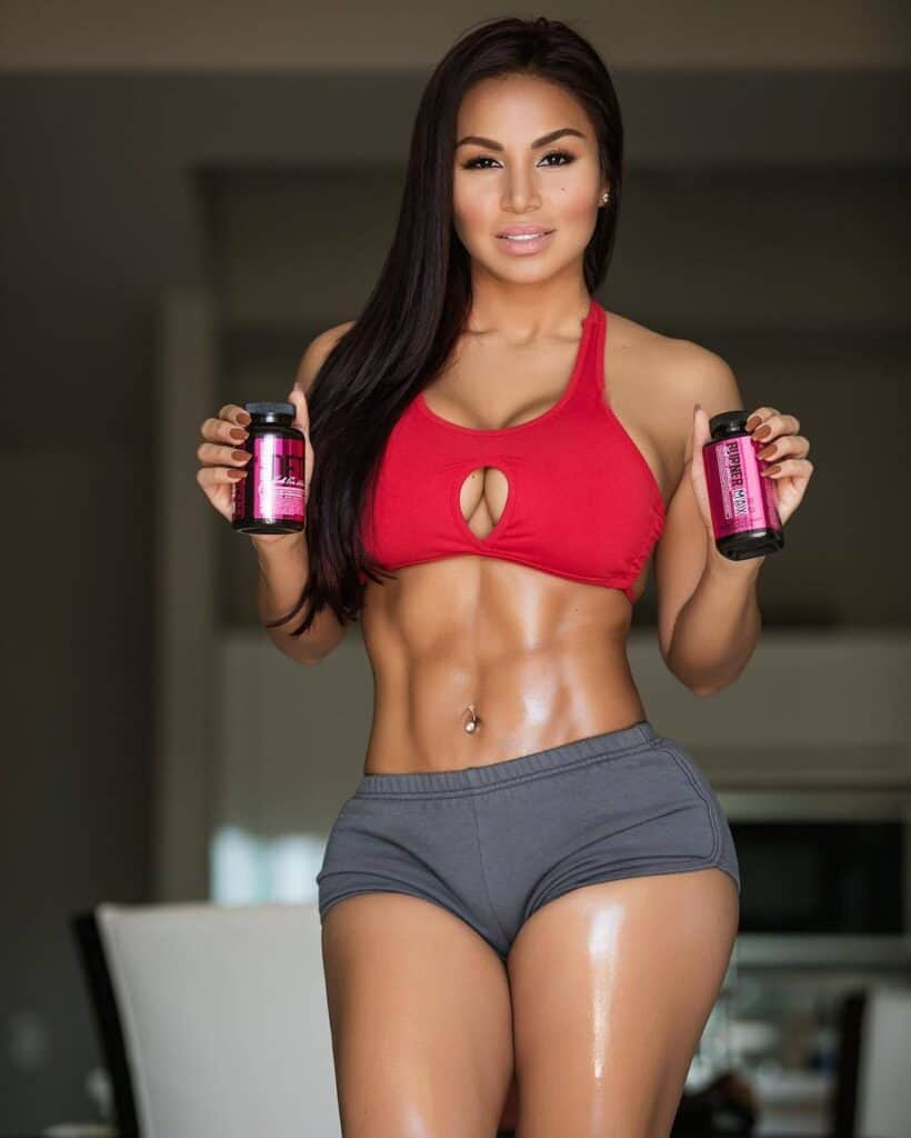 Dolly Castro promoting supplements