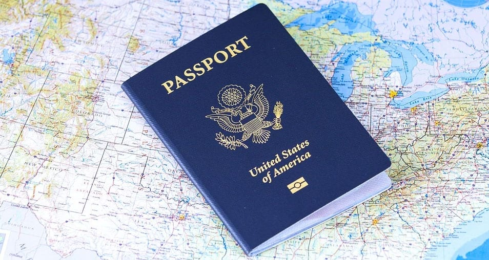 passport and map of the world